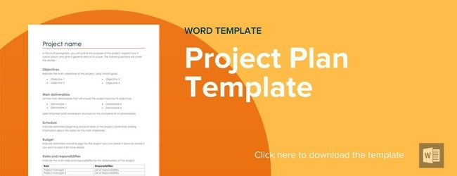 Project Plan Template Word from www.mybeeye.com