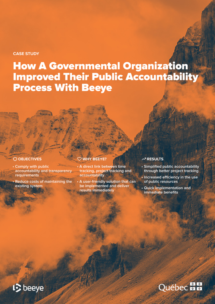 a governmental organization benefits from Beeye